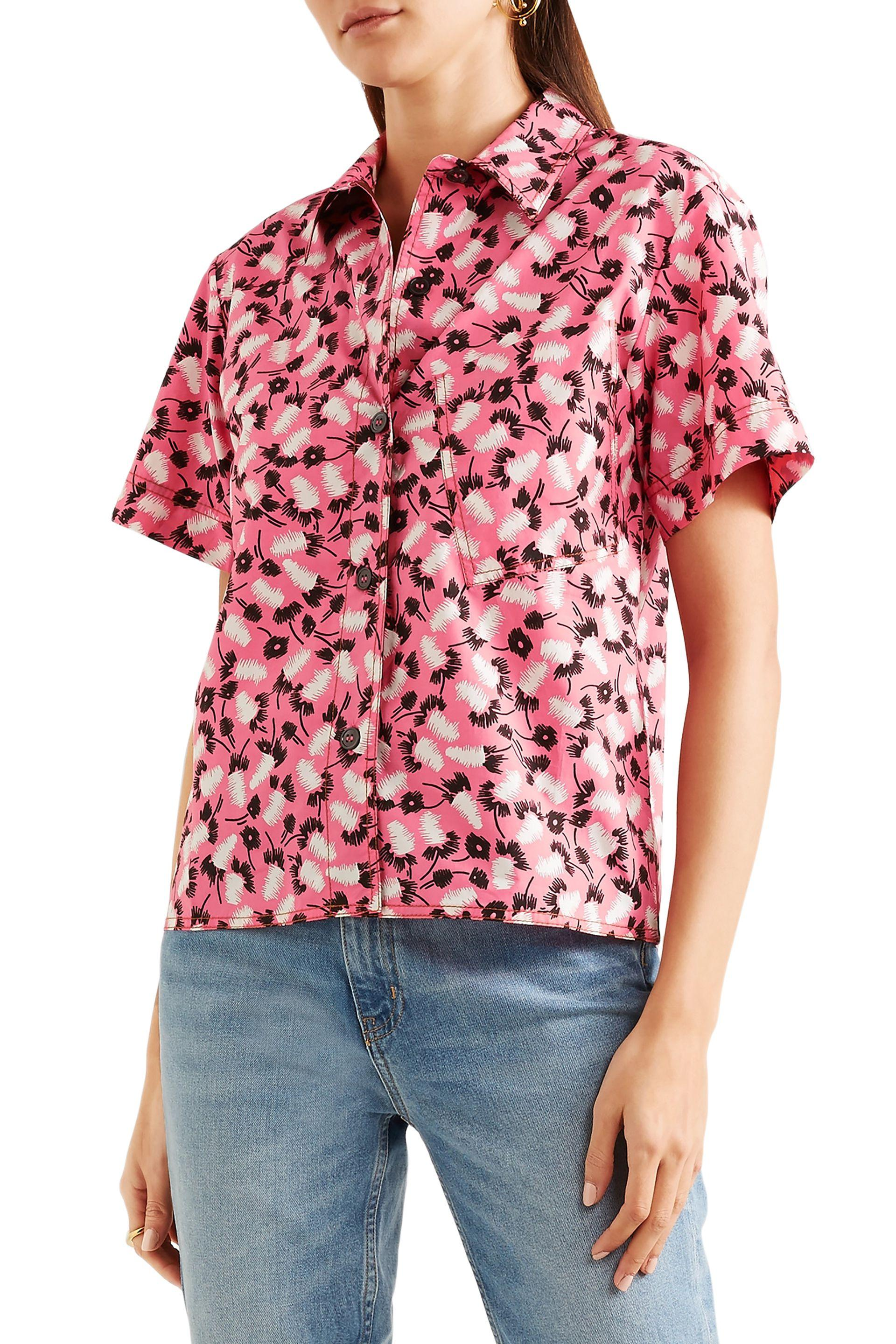 274615e63dca70 Lyst - Marni Woman Printed Cotton-poplin Shirt Pink in Pink - Save 16%