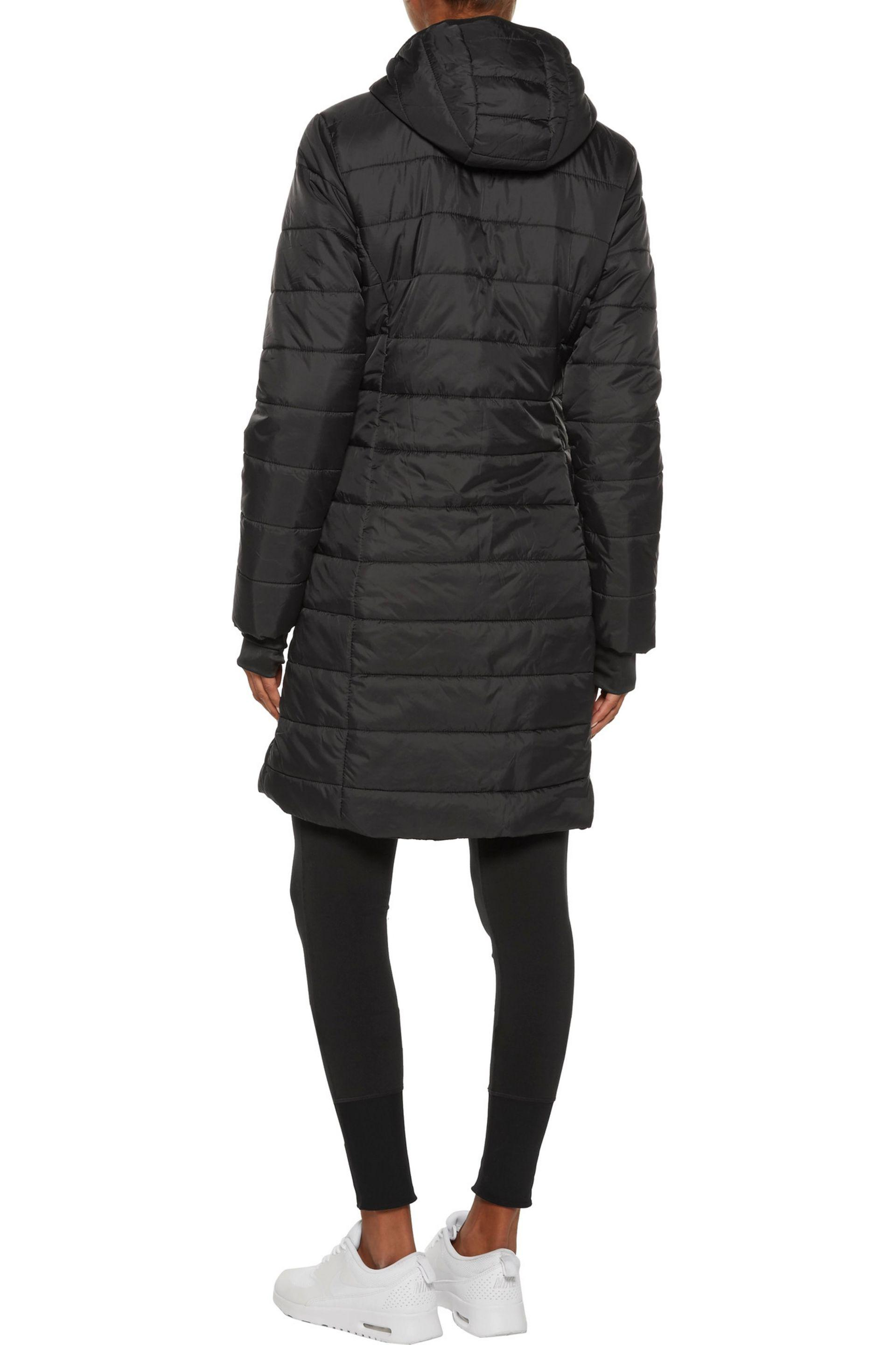 Purity Active - Black Quilted Shell Hooded Coat - Lyst. View fullscreen