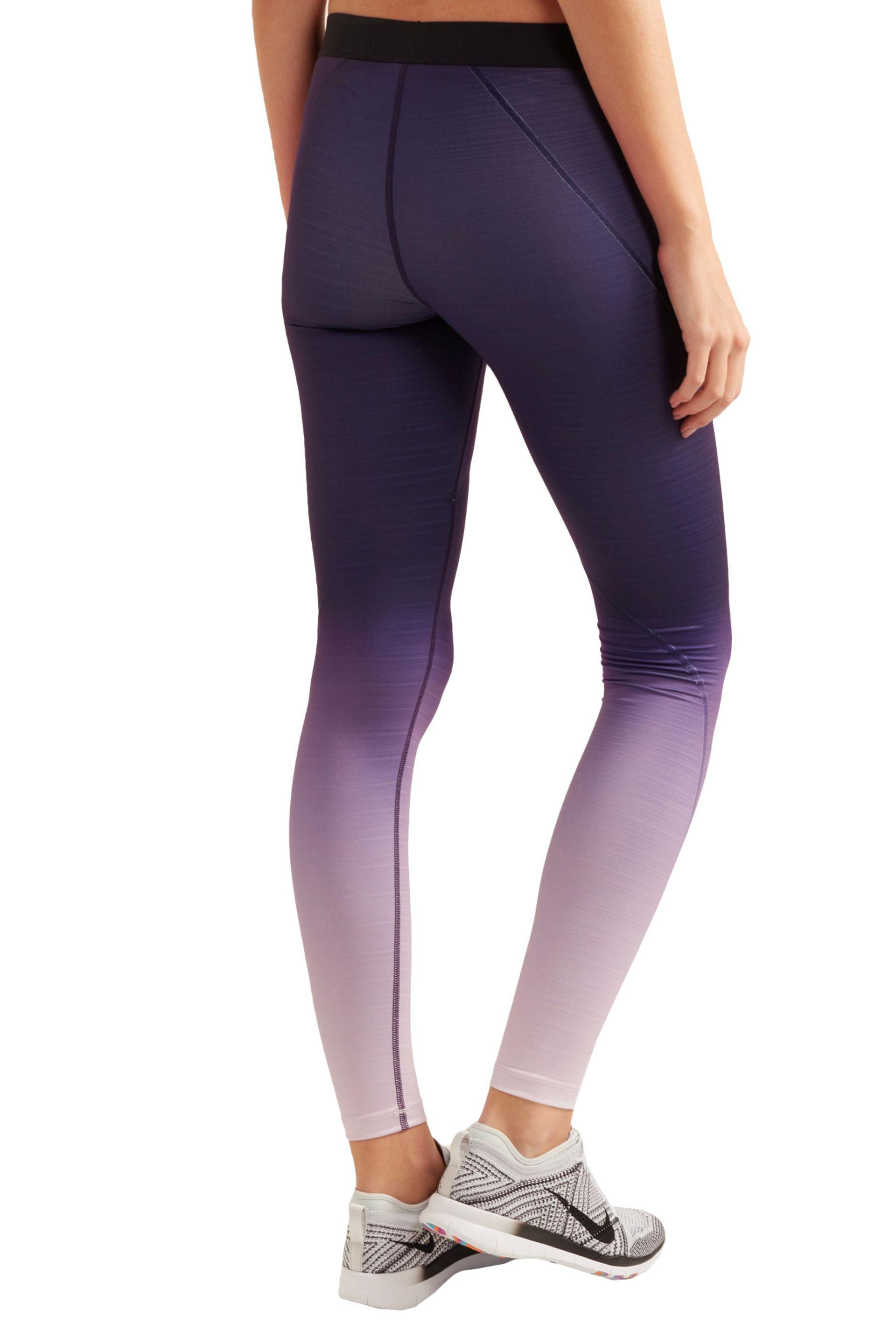 86b239742e8c3 Nike Pro Hyperwarm Ombré Dri-fit Stretch-jersey Leggings in Purple ...