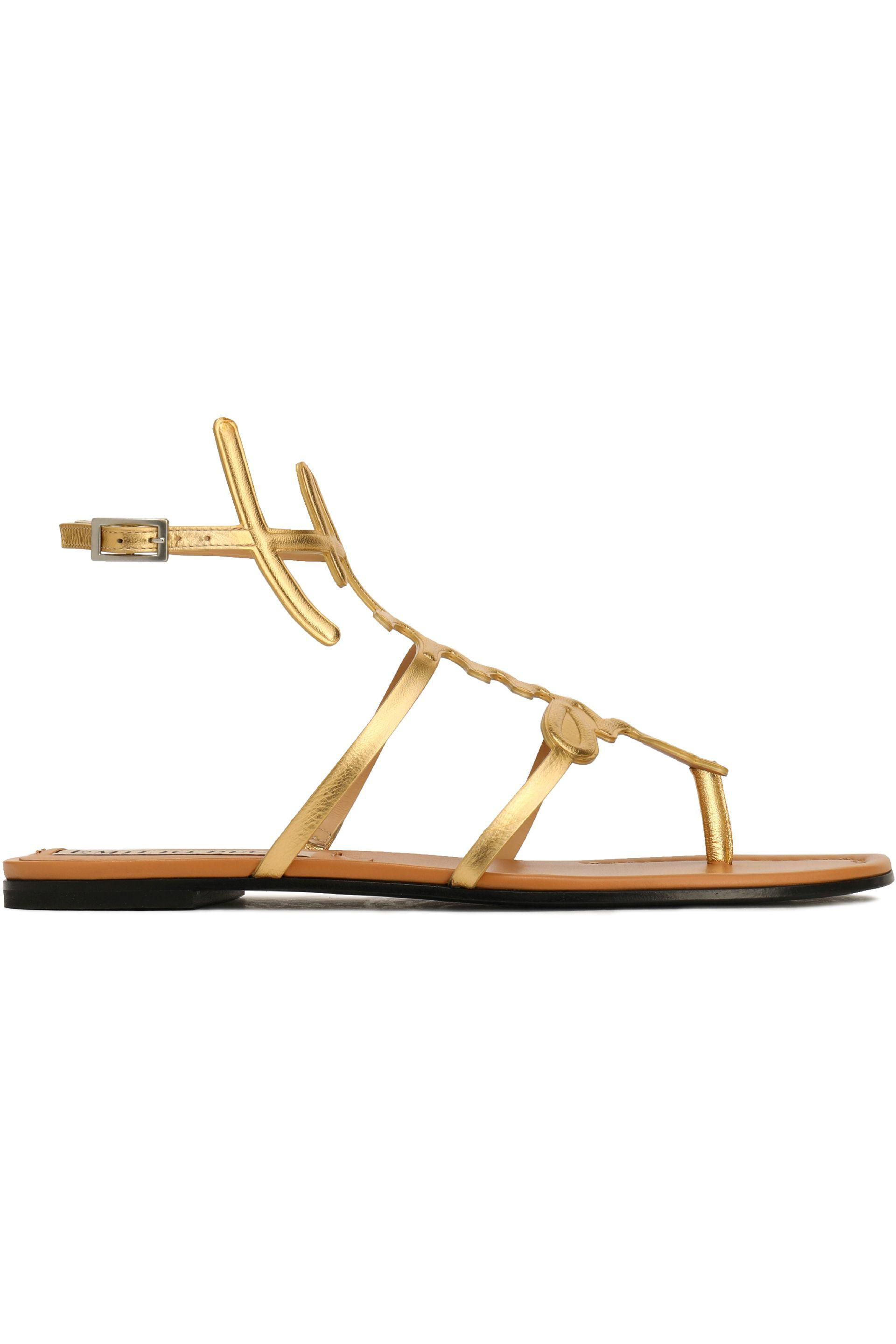 strappy flat sandals - Metallic Emilio Pucci For Cheap Ac0nwPxCQ