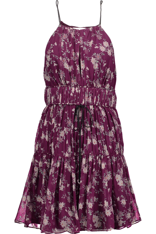 Get To Buy Clearance Latest Cinq À Sept Woman Lotus Gathered Floral-print Silk-georgette Mini Dress Blue Size M Cinq à Sept Official Site Sale Online Collections For Sale Best Seller Online hfjVcJP