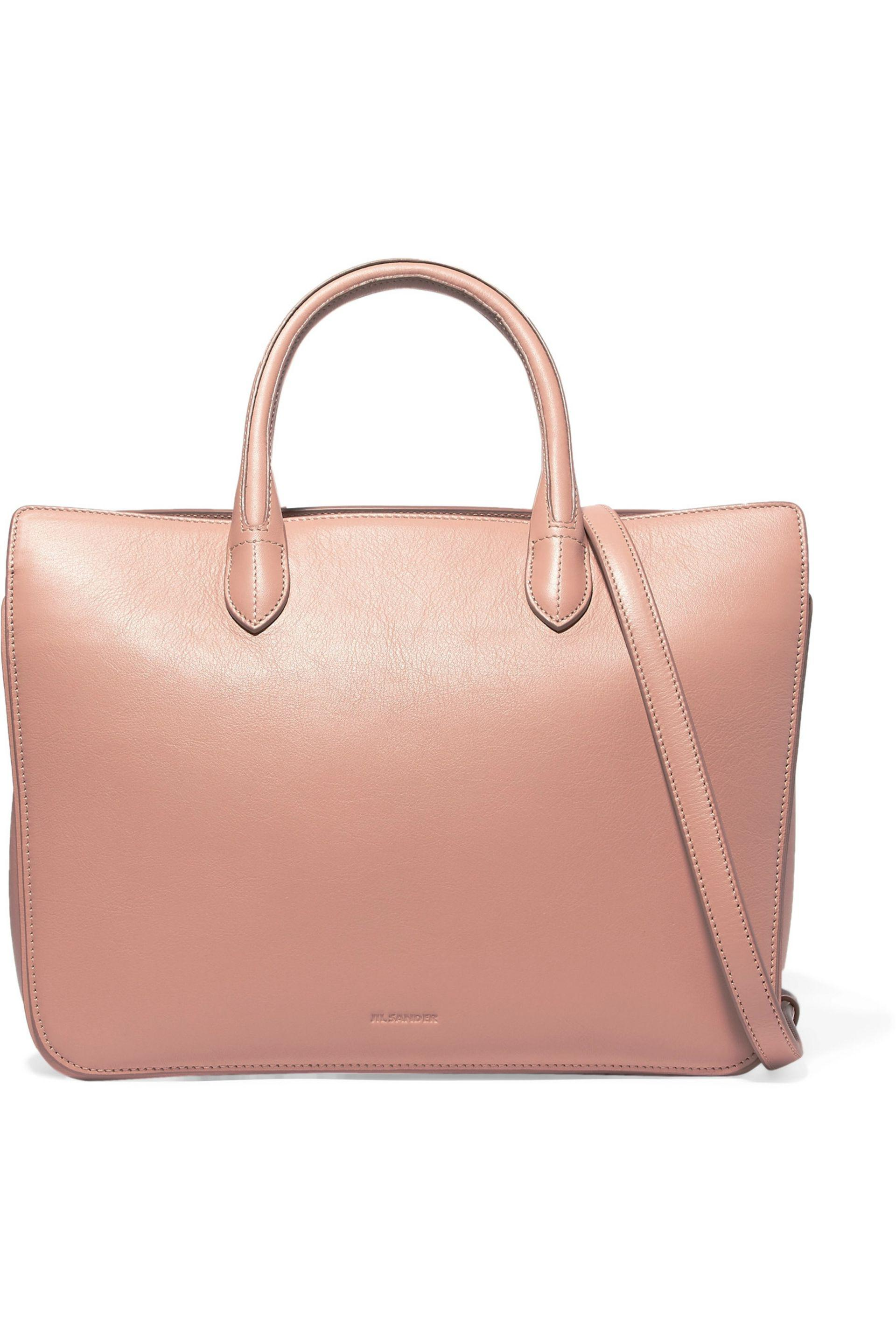 Jil Sander Oversized canvas and leather tote GACczkW