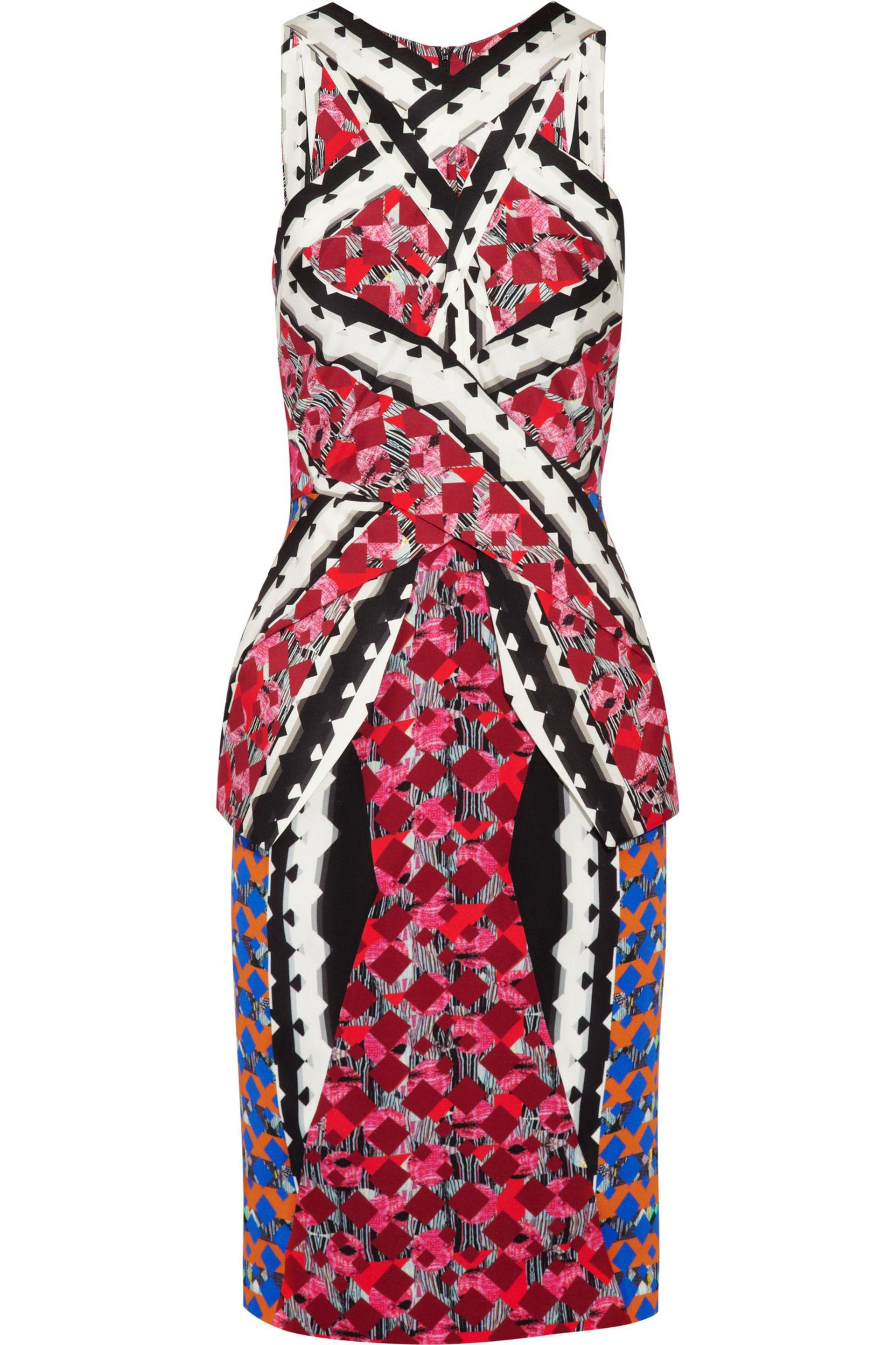 In China For Sale Discount Low Shipping Peter Pilotto Woman Ruffled Printed Cloqué Dress Red Size 10 Peter Pilotto 080UFAq0as