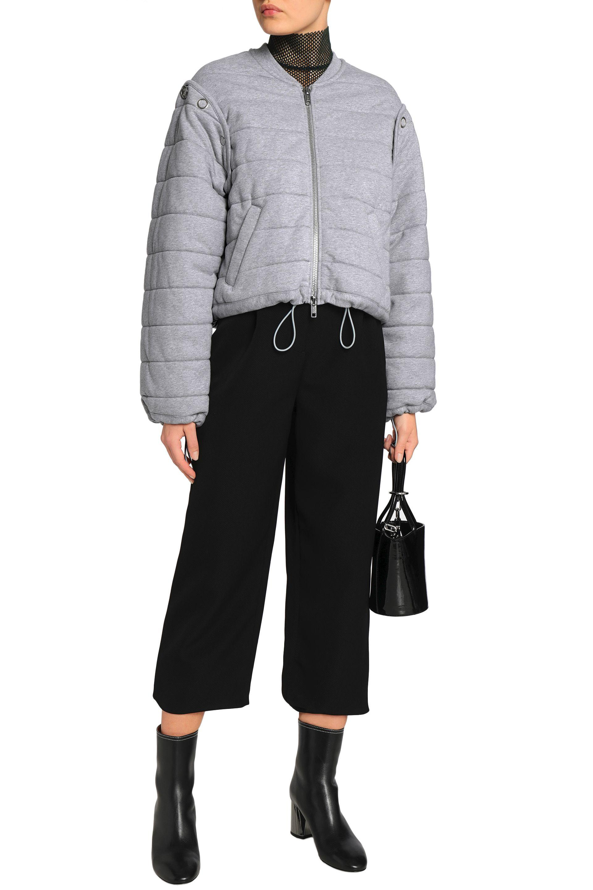 5ee7f0f647 3.1 Phillip Lim Woman Convertible Quilted Cotton-jersey Bomber ...