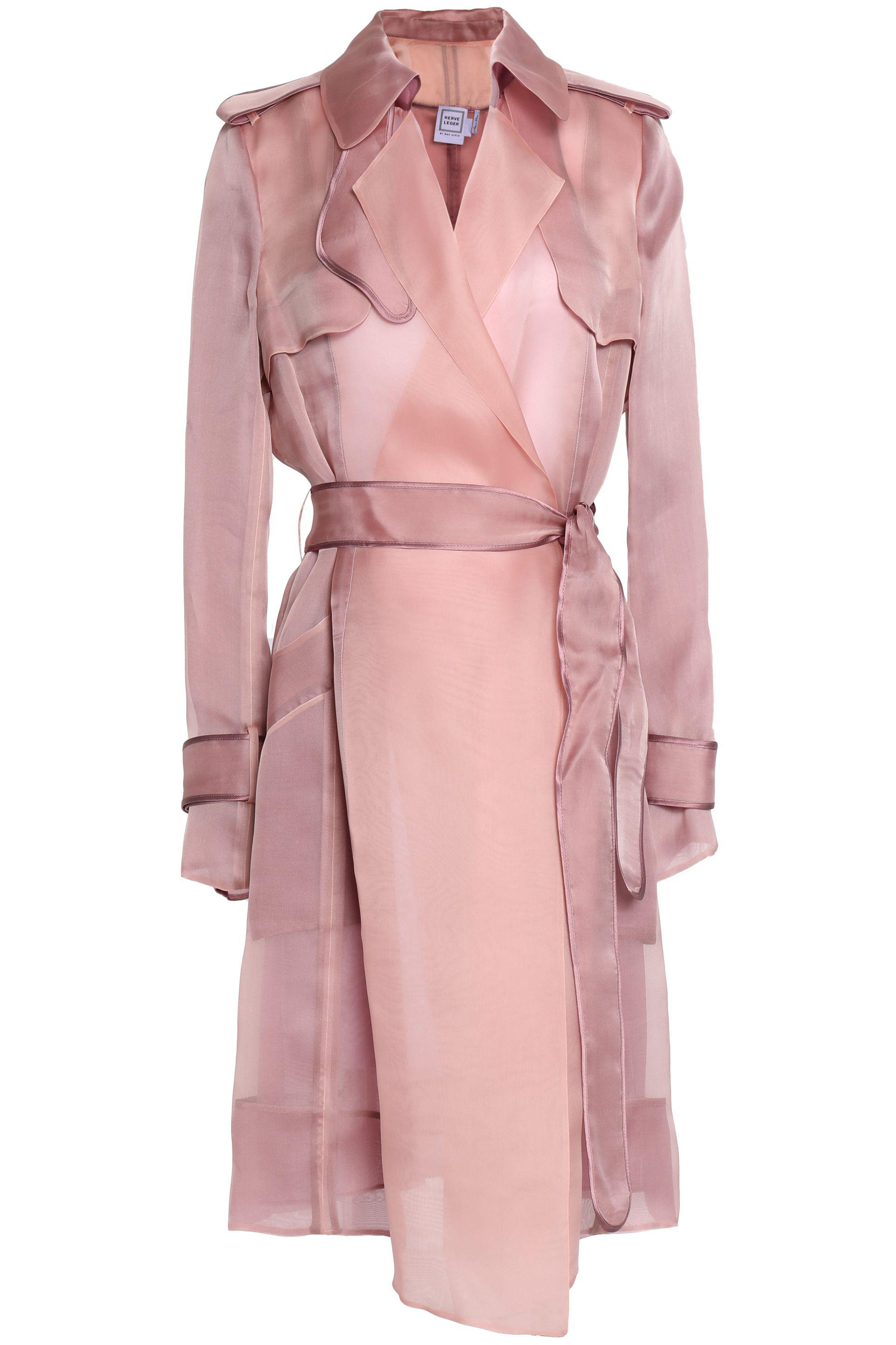 bcac23a09281 Hervé Léger Trench Coats Antique Rose in Pink - Lyst
