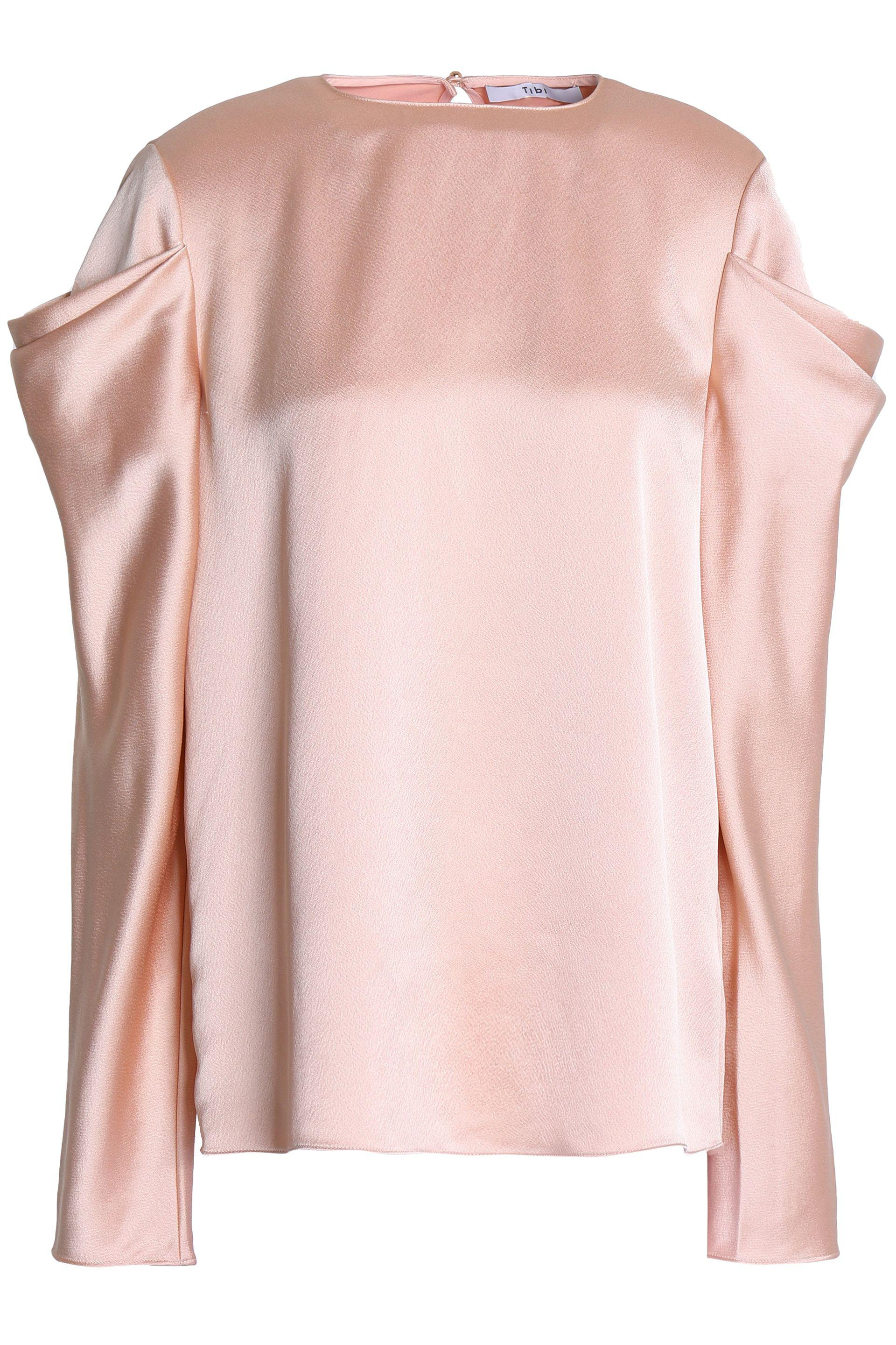 Tibi. Women's Draped Satin Top