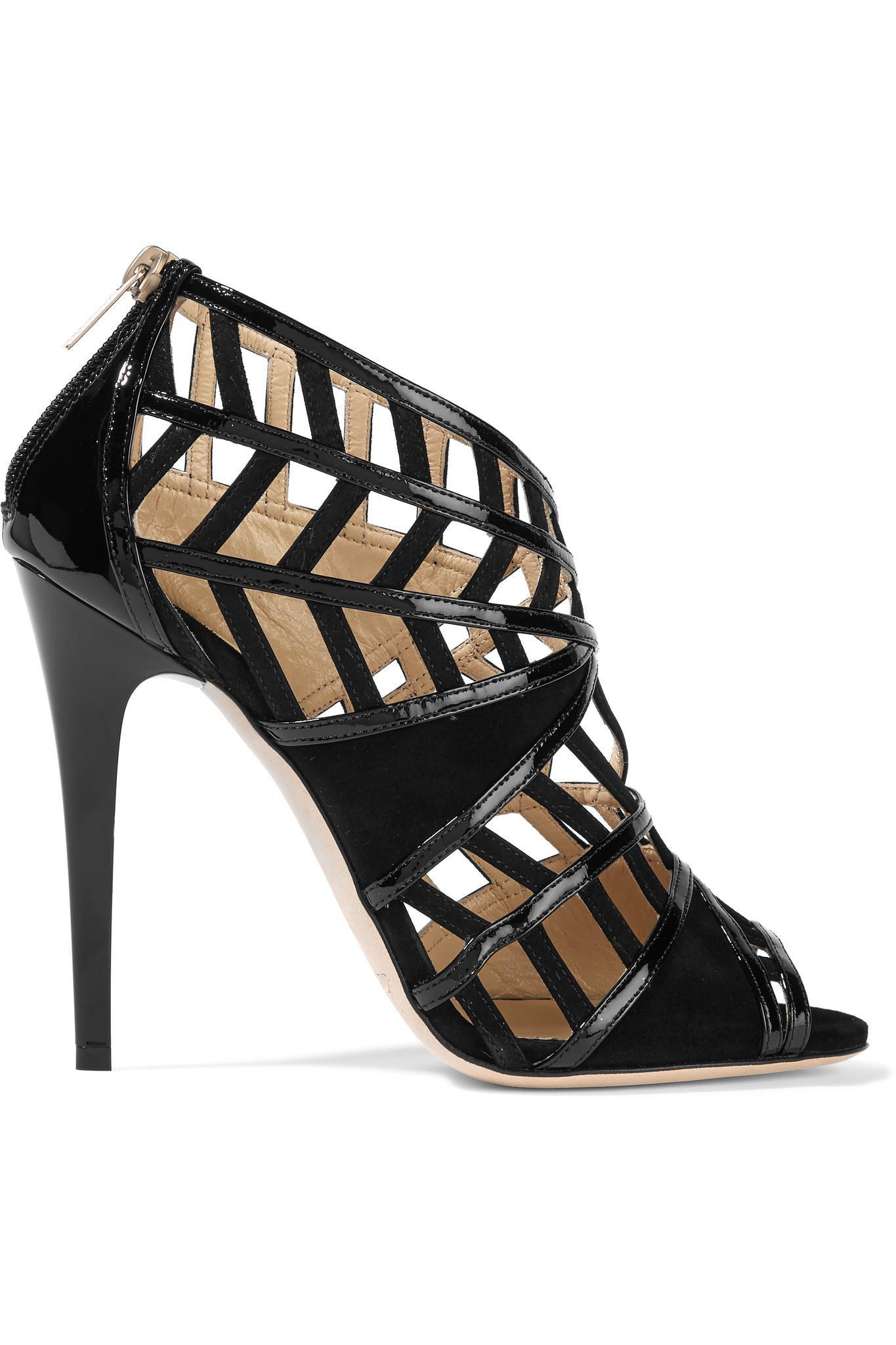 Jimmy Choo Patent Leather Cut-Out Sandals footlocker finishline g76TpuqFK