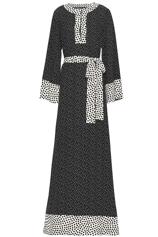 ba492d746c7 Dolce   Gabbana. Women s Woman Belted Polka-dot Silk Maxi Dress Black