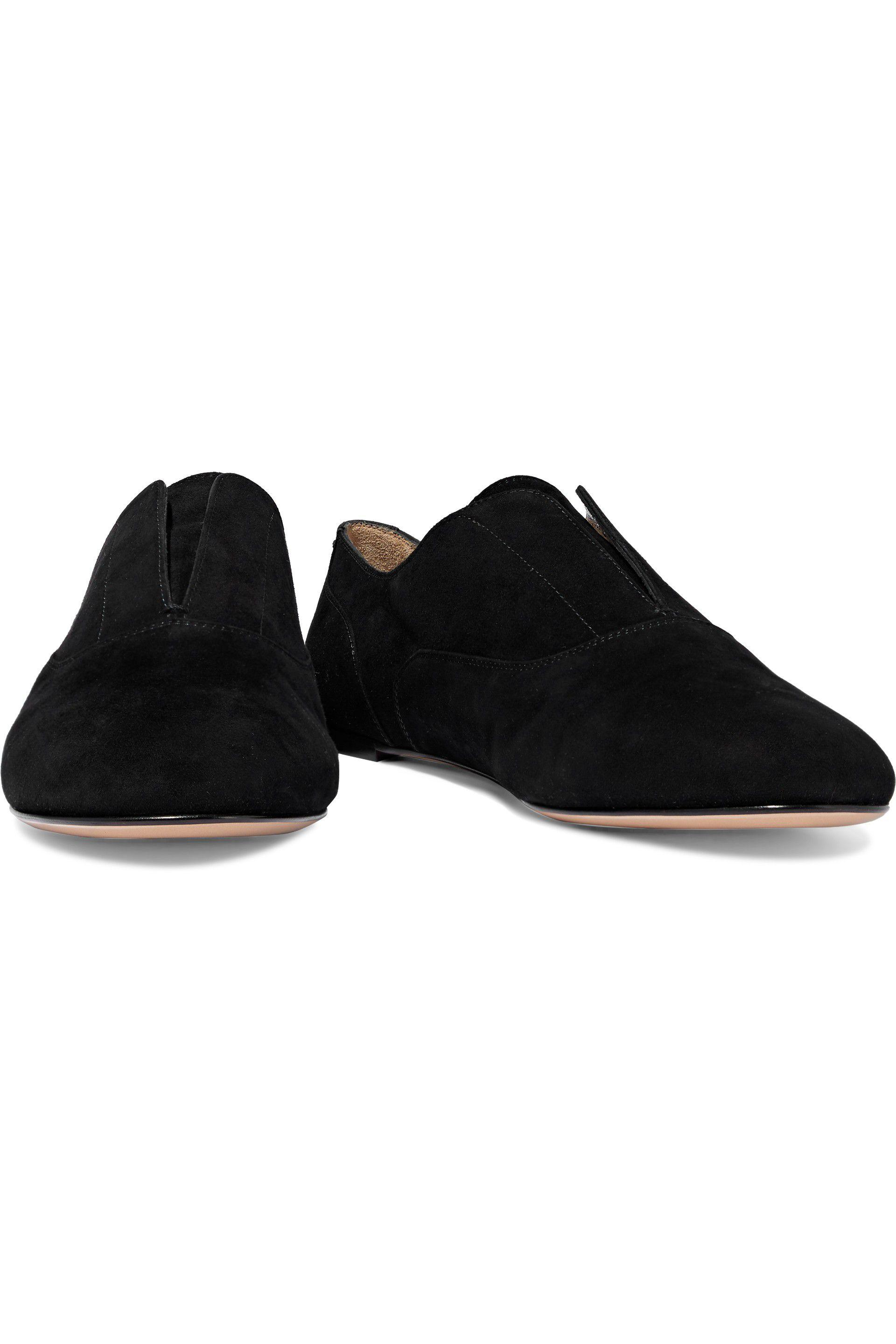 caf5d88f5be Lyst - Gianvito Rossi Woman Camnero Suede Loafers Black in Black
