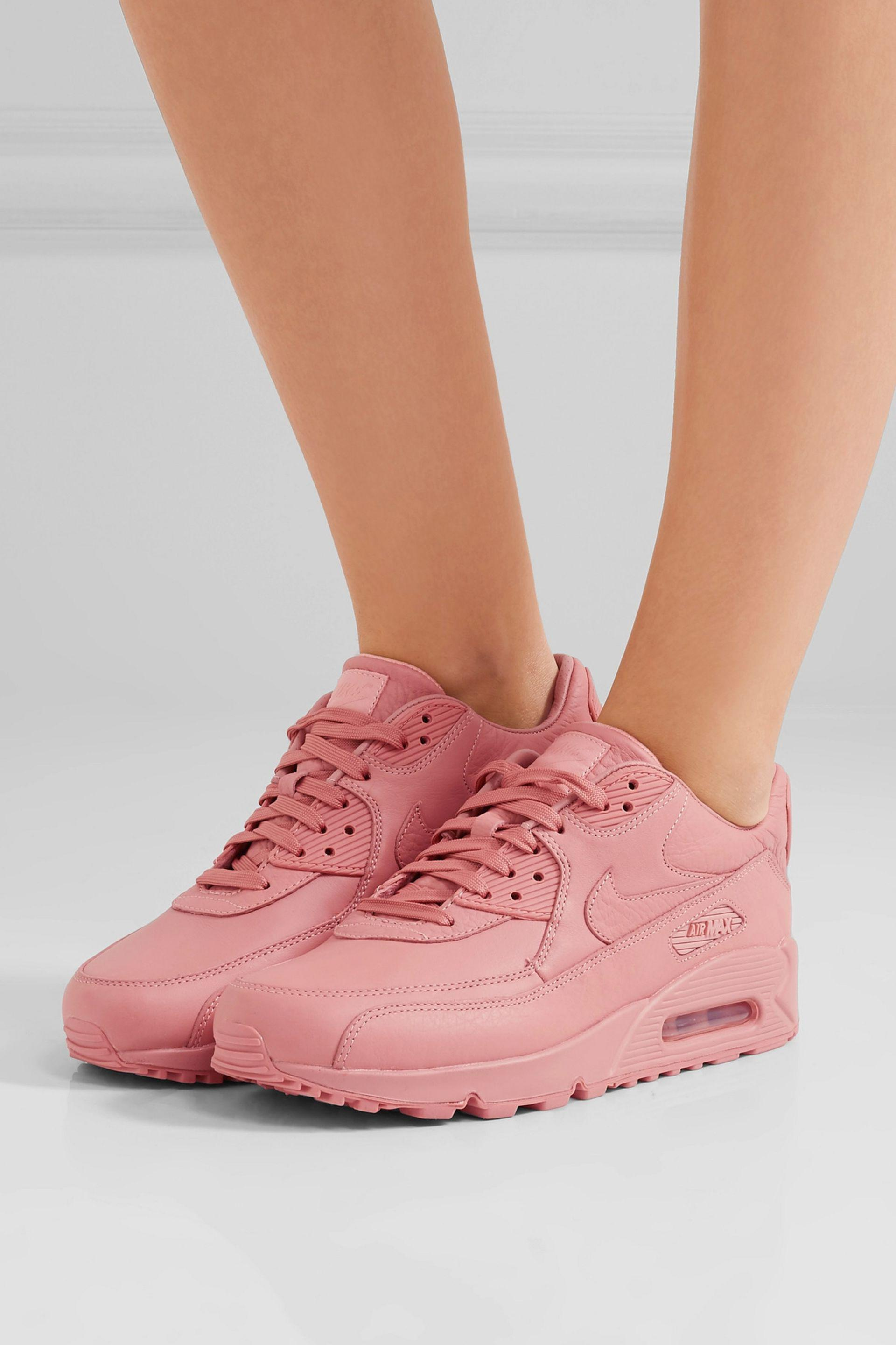 huge selection of bf2e4 9ae34 Nike Tier Zero Air Max 90 Leather Sneakers in Pink Lyst ...