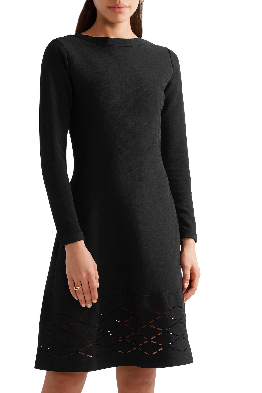 Lela Rose Woman Laser-cut Stretch-knit Dress Black Size M Lela Rose Kd5mpzxu