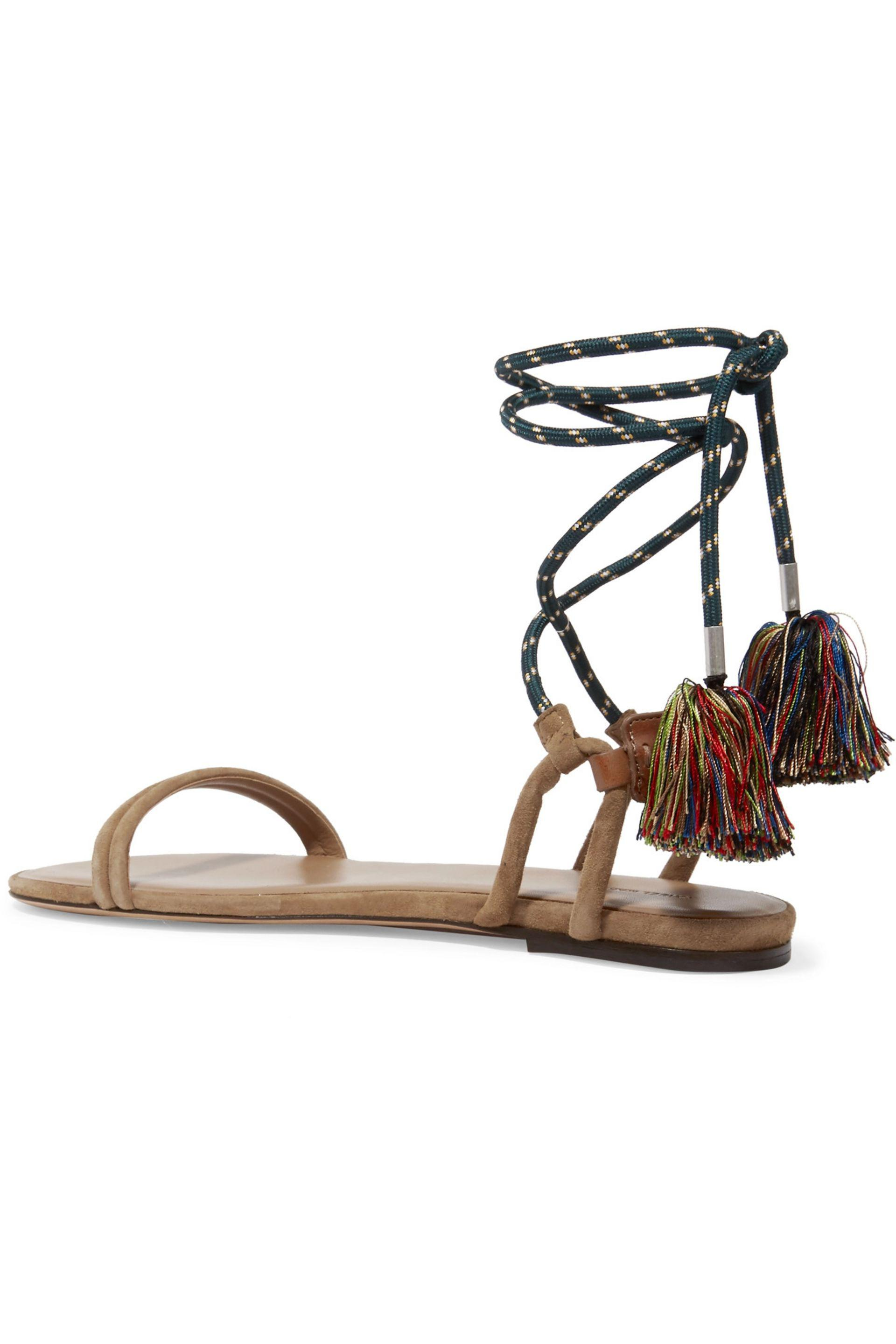 Isabel Marant | Multicolor Astrid Tasseled Leather-trimmed Suede Sandals |  Lyst. View Fullscreen