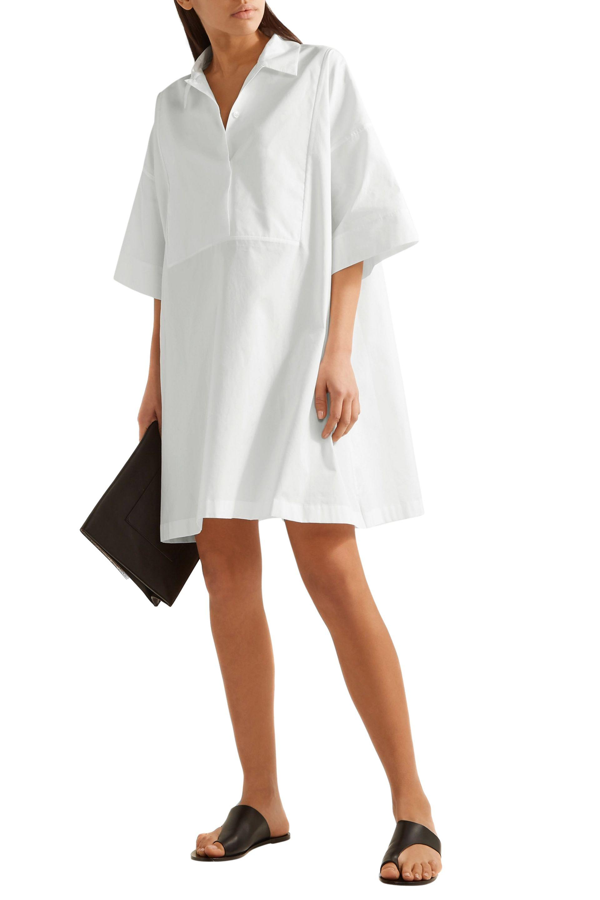 Lyst Acne Studios Sena Cotton Poplin Shirt Dress In White