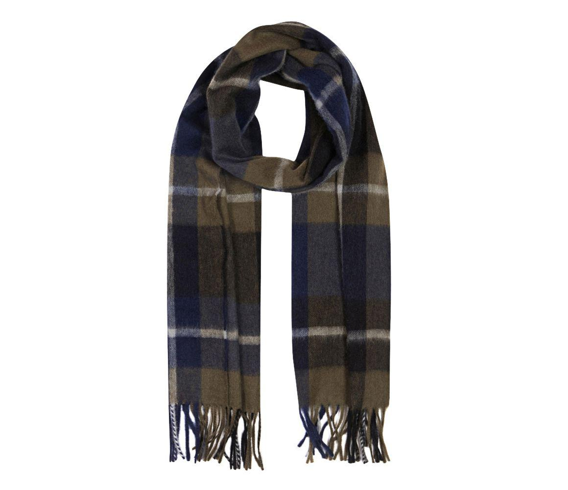 c2638010be80a Lyst - Begg & Co Grey And Navy Lambswool And Angora Jura Scarf in ...