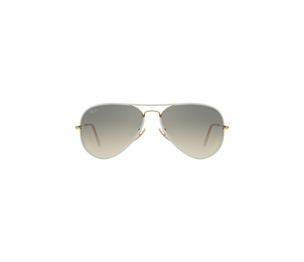ee1ea10f5b752 Ray-Ban - Aviator Full Colour Rb3025jm 146 32 White And Gold Frames With.  View fullscreen