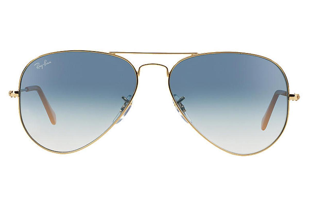 Ray-Ban Aviator Gradient Rb3025-001/3f Gold Frames With Blue Lenses ...