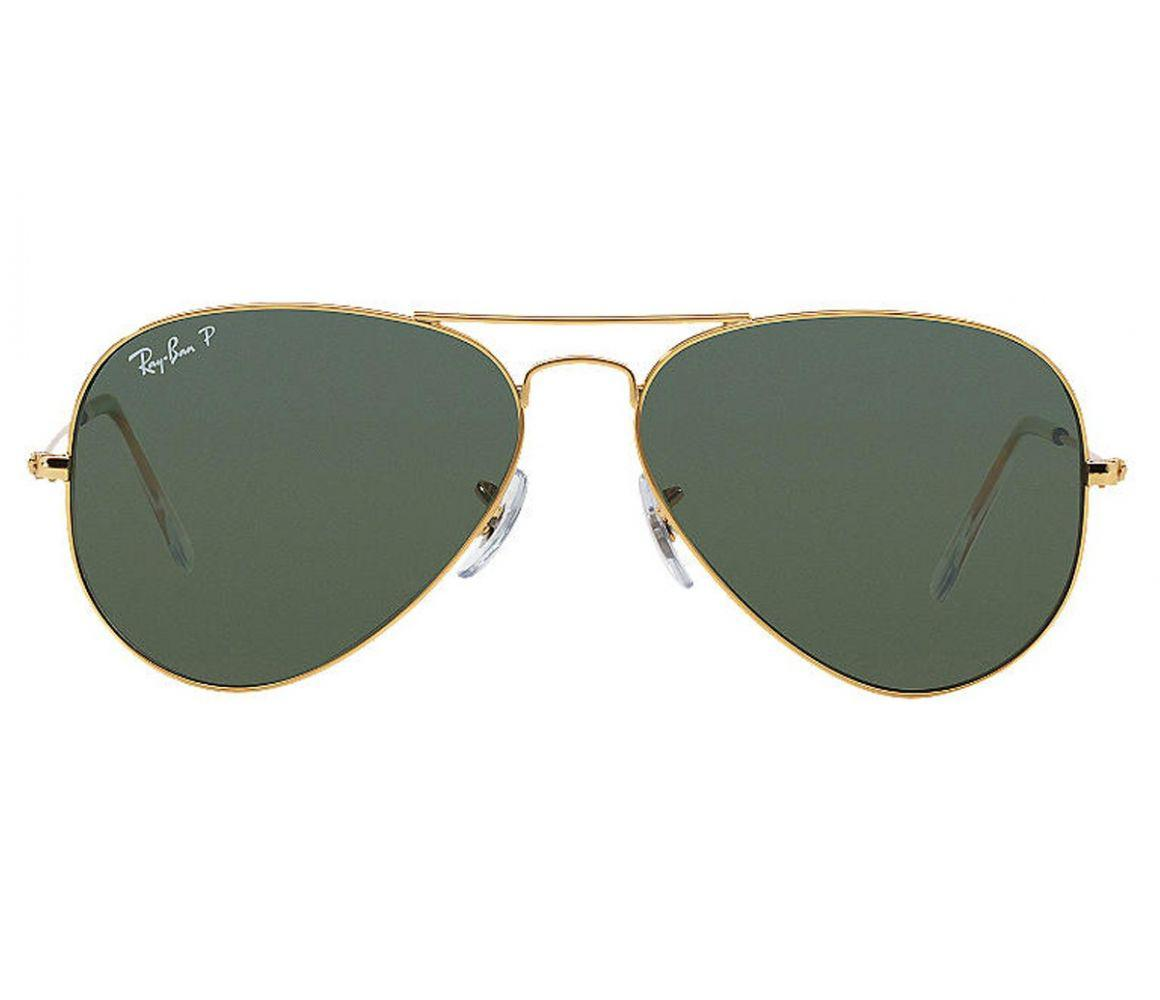 fba50bccc3 Ray-Ban. Men s Metallic Aviator Classic Rb3025 001 58 Gold With Green Polarized  Lenses Sunglasses