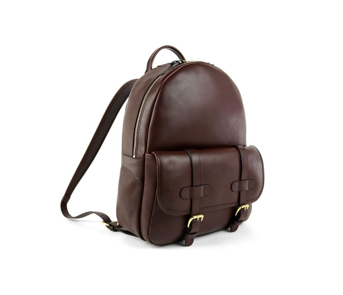 80132fa8cc5d Frank Clegg - Brown Chocolate Hampton Zipper Leather Backpack for Men -  Lyst. View fullscreen