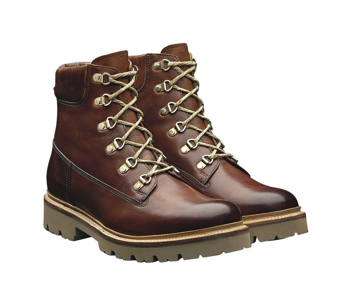 79366e70411 Grenson Brown Leather Rutherford Hiking Boots in Brown for Men - Lyst