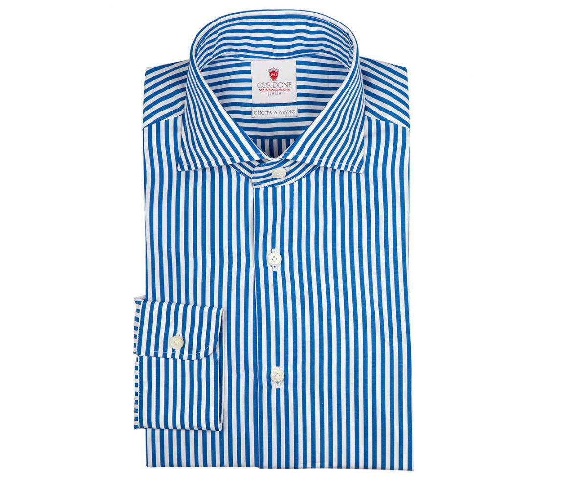 59085cd3c1ee cordone-1956-blue-Blue-And-White-Dandy-Stripe-Handmade-Cotton-Shirt.jpeg