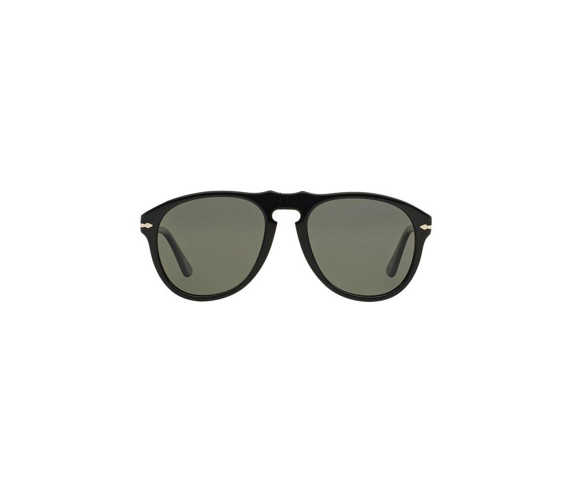 7c7476dc65bce Persol. Men s Icons Po0649 95 58 Black With Crystal Green Lenses Sunglasses