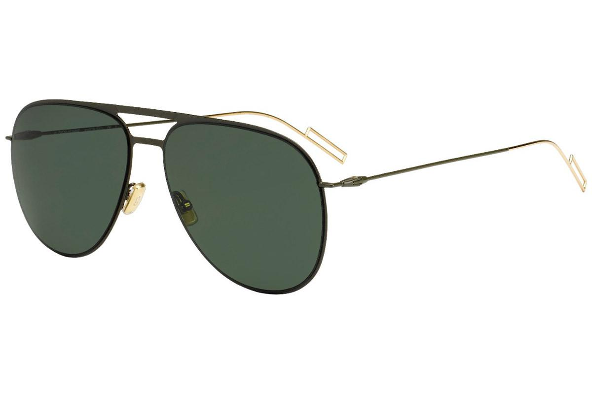 c9a2a50d6a18 Dior Homme. Men s Black And Gold Aviator Frames With Black Lenses Sunglasses  0205s