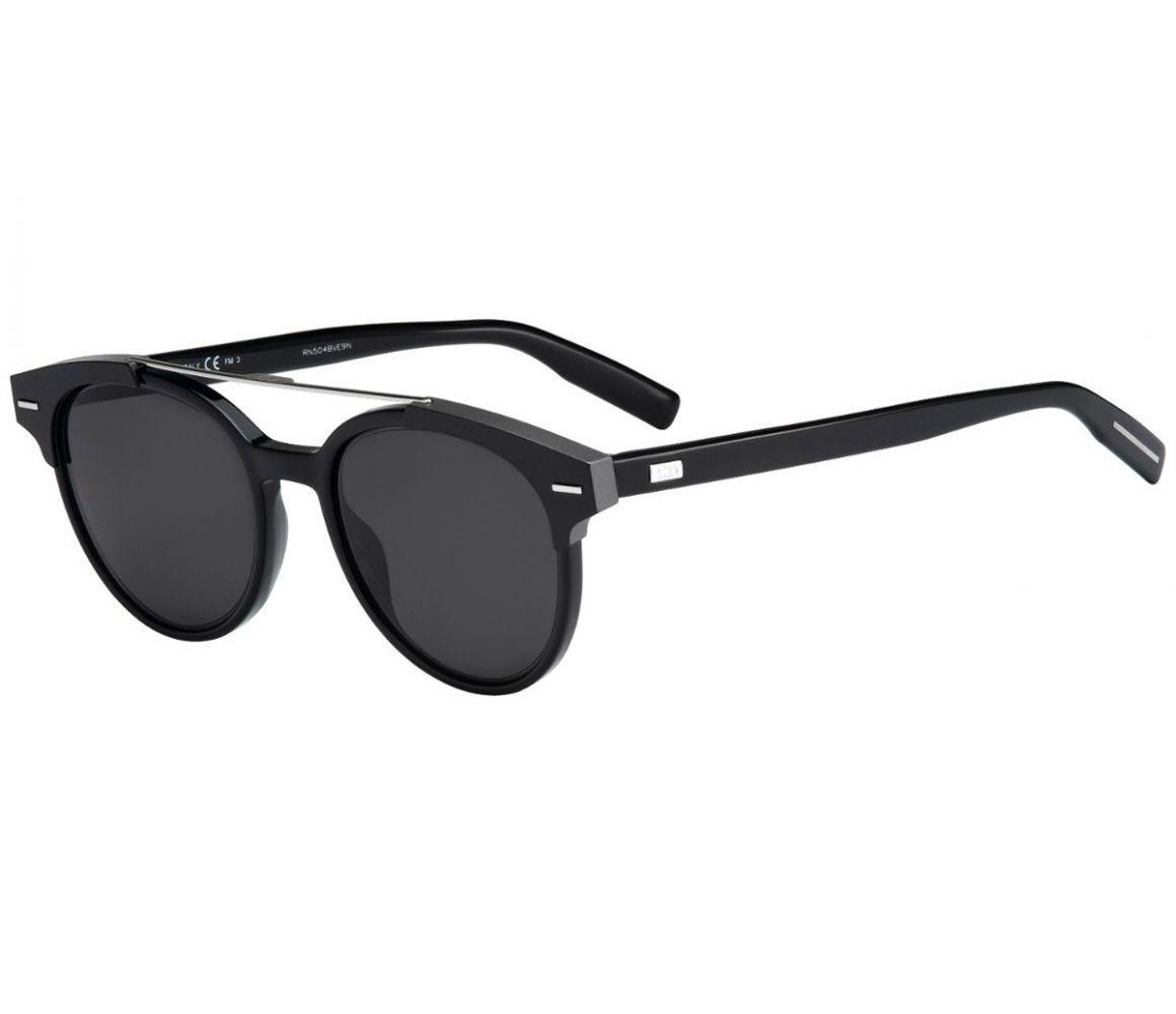 d71847823a67 Lyst - Dior Homme Black Tie Black Round Frames With Polarized Black ...