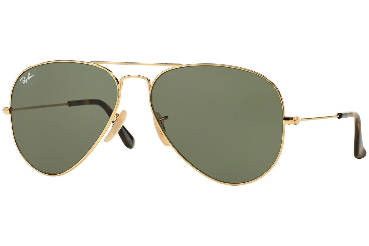 f1f7ecd077b Ray-Ban. Men s Metallic Aviator Rb3025 181 Gold Frames With Grey Lenses  Sunglasses
