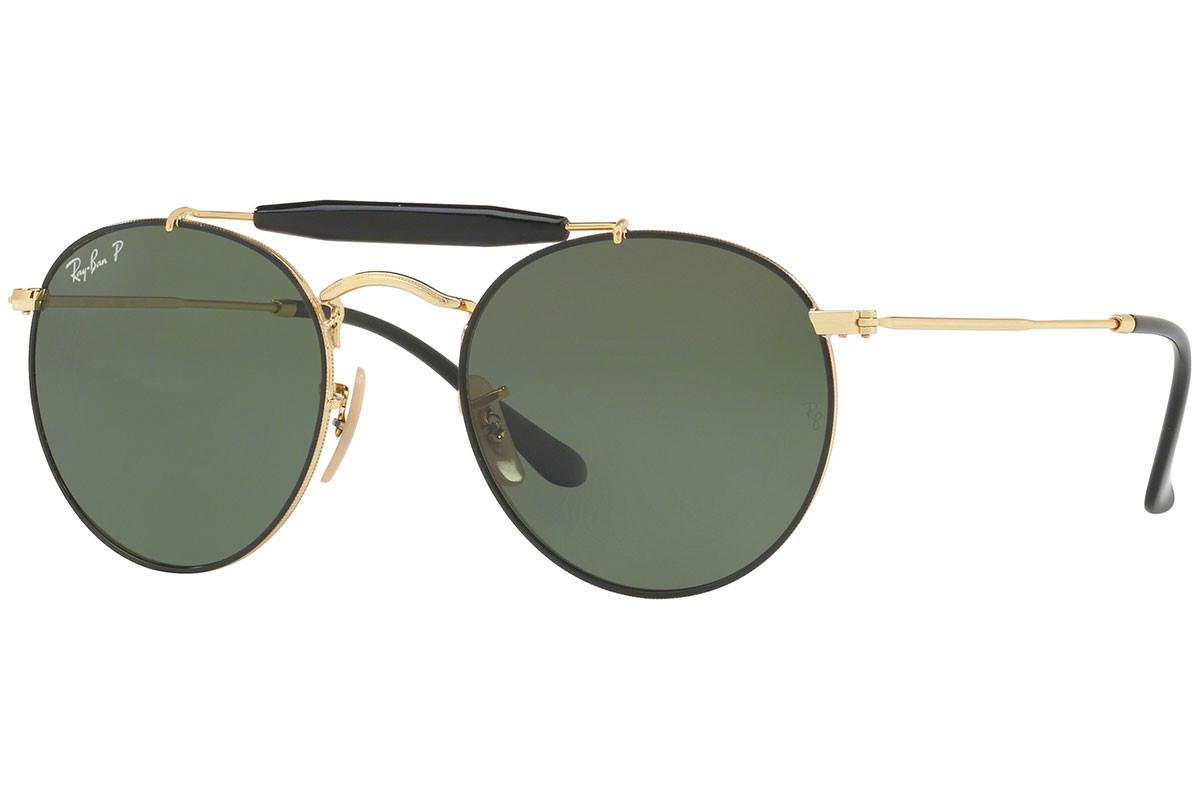d973eef7aa3 Ray-Ban. Men s Double Bridge Rb3747 900058 Black And Gold Frames With  Polarized Grey Lenses Sunglasses