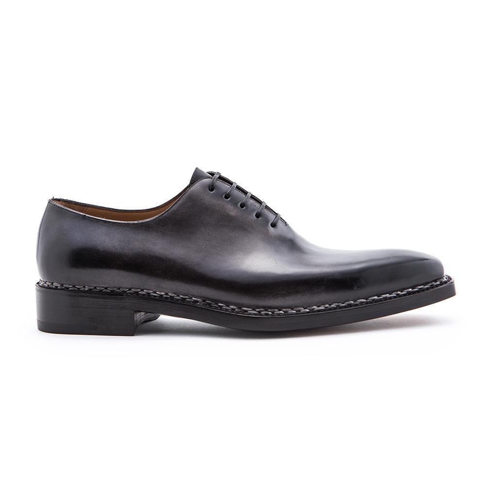 Black Square Toe Wholecut Leather Oxfords Paolo Scafora xtfAb
