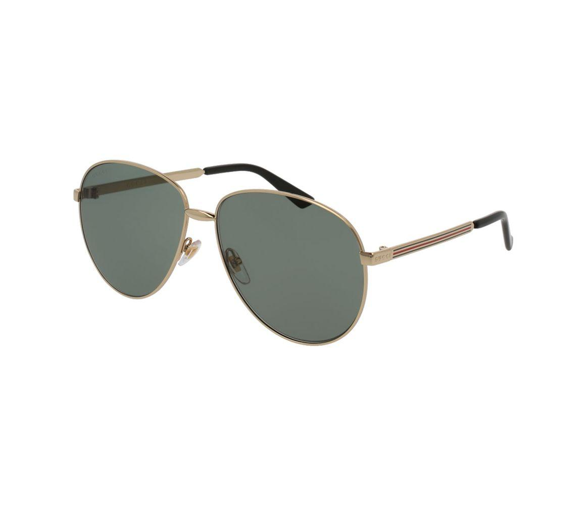 8956aa83af6 Lyst - Gucci Gold Metal GG0138S-001 Pilot Sunglasses in Metallic for Men