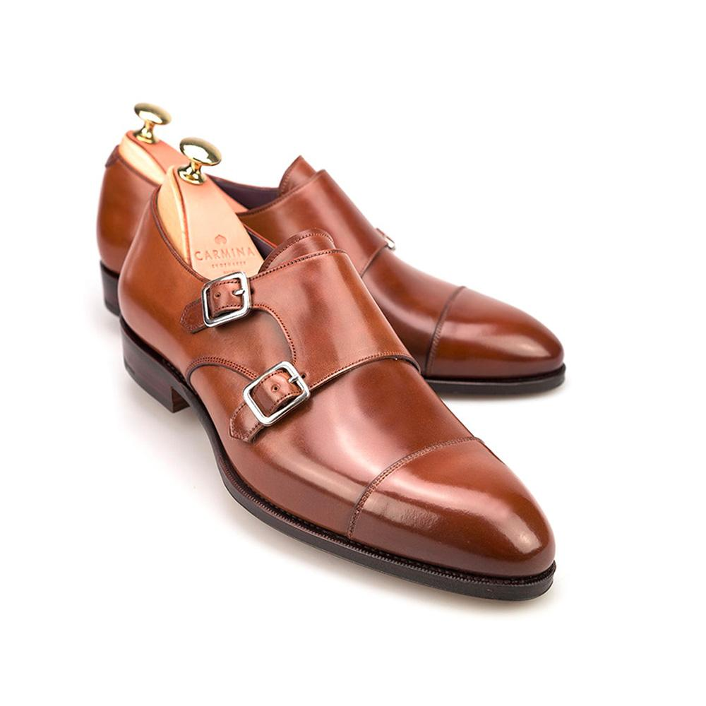 Buy Brown Leather Monk Shoes