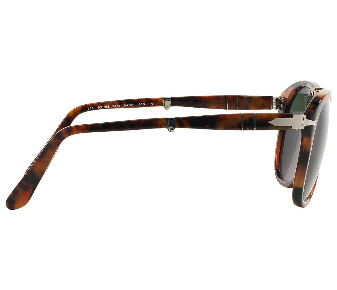da624ce719 Persol - Icons Po0714 108 58 Caffe With Crystal Green Lenses Sunglasses for  Men -. View fullscreen