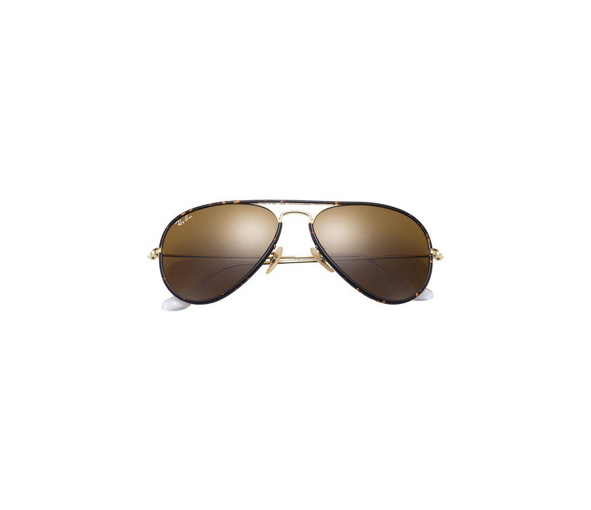 e7044c54df Ray-Ban - Metallic Aviator Full Colour Rb3025jm-001 Tortoiseshell And Gold  Frames With. View fullscreen