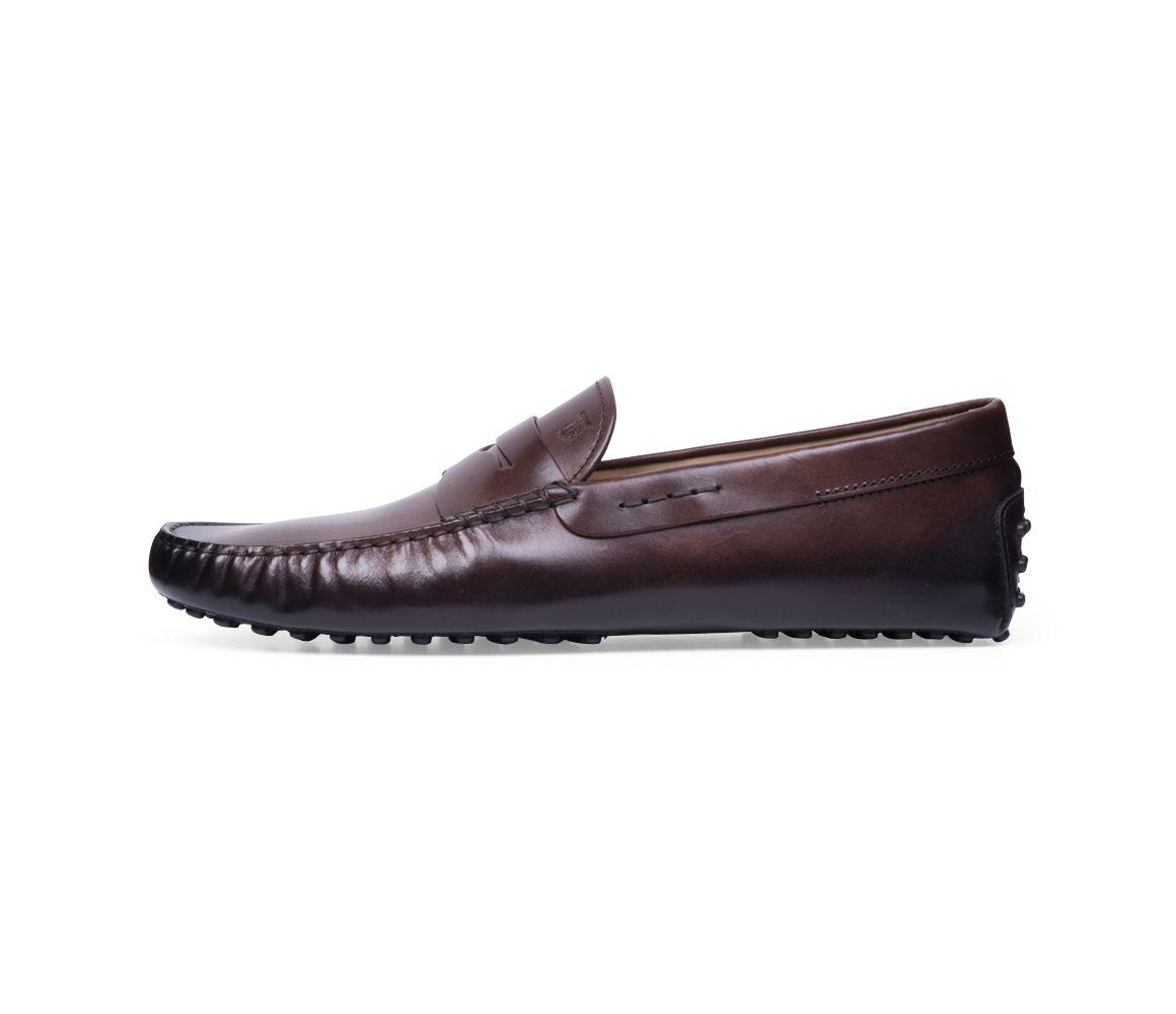 de48735d7 Tod's Brown Hand-patinated Leather Gommino Driving Shoes in Brown ...