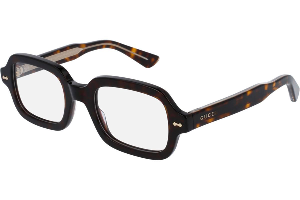 170bf10f3e51 Gucci Brown Tortoiseshell Square Frames With Clear Lenses Eyewear ...