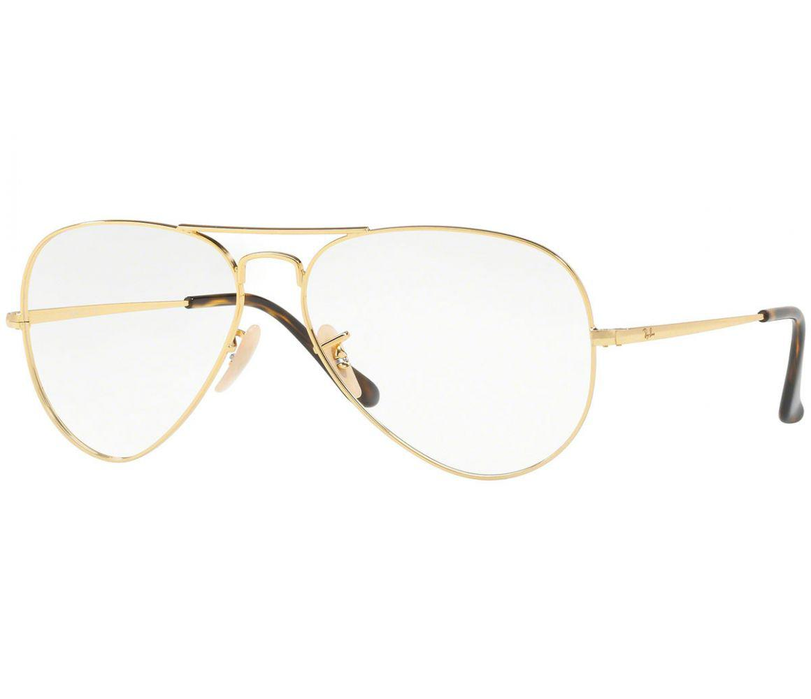 100486abb5 Ray-Ban Aviator Rx6489-2500 Gold Frames With Clear Lenses Eyewear in ...