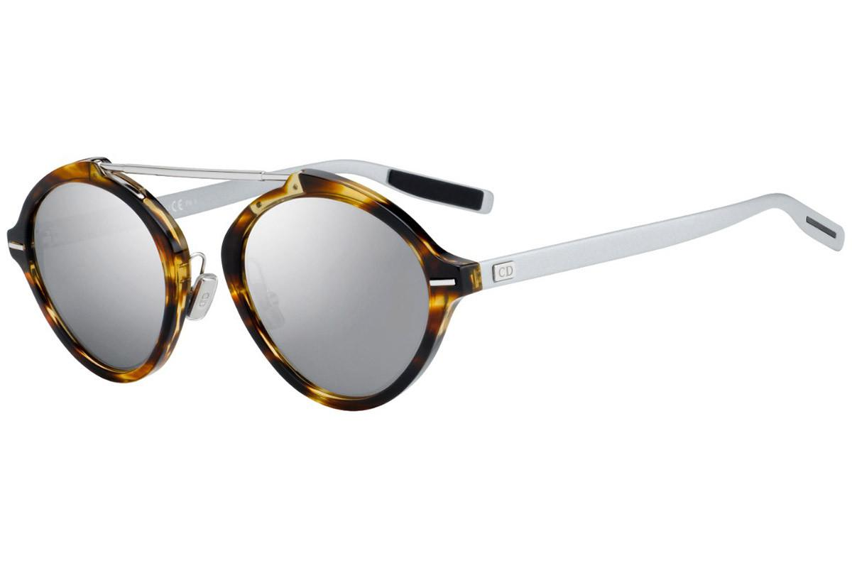 fd751347302b3 Dior Homme System Tortoiseshell And Silver Round Frames With Grey ...