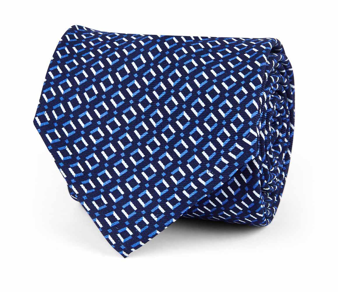 Blue and White Diamond Silk Tie Rubinacci uM1q3rlYM