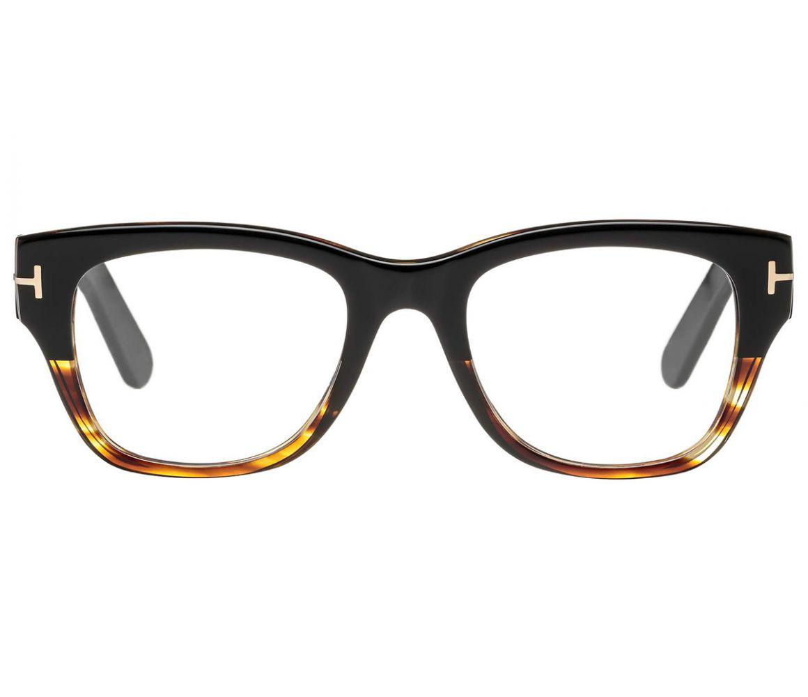 5279fa80afa8 Tom Ford. Men s Black And Tortoiseshell Square Frames With Clear Lenses  Eyewear ...