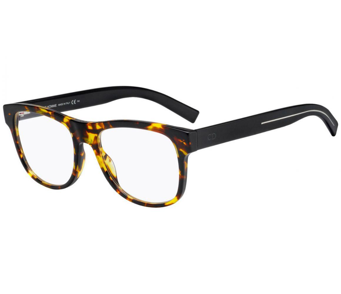 78f9af2ebc42 Dior Homme. Men s Dark Brown Tortoiseshell Square Frames With Clear Lenses  Eyewear ...