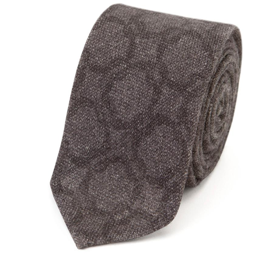 Navy Silk and Wool Tie Salvatore Piccolo
