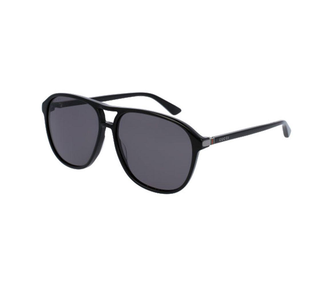 de5bc66cfb Lyst - Gucci Black Acetate GG0016S-006 Square Sunglasses in Black ...
