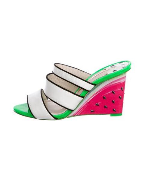 c8282806659073 Lyst - Sophia Webster Brooke Watermelon Wedges in White