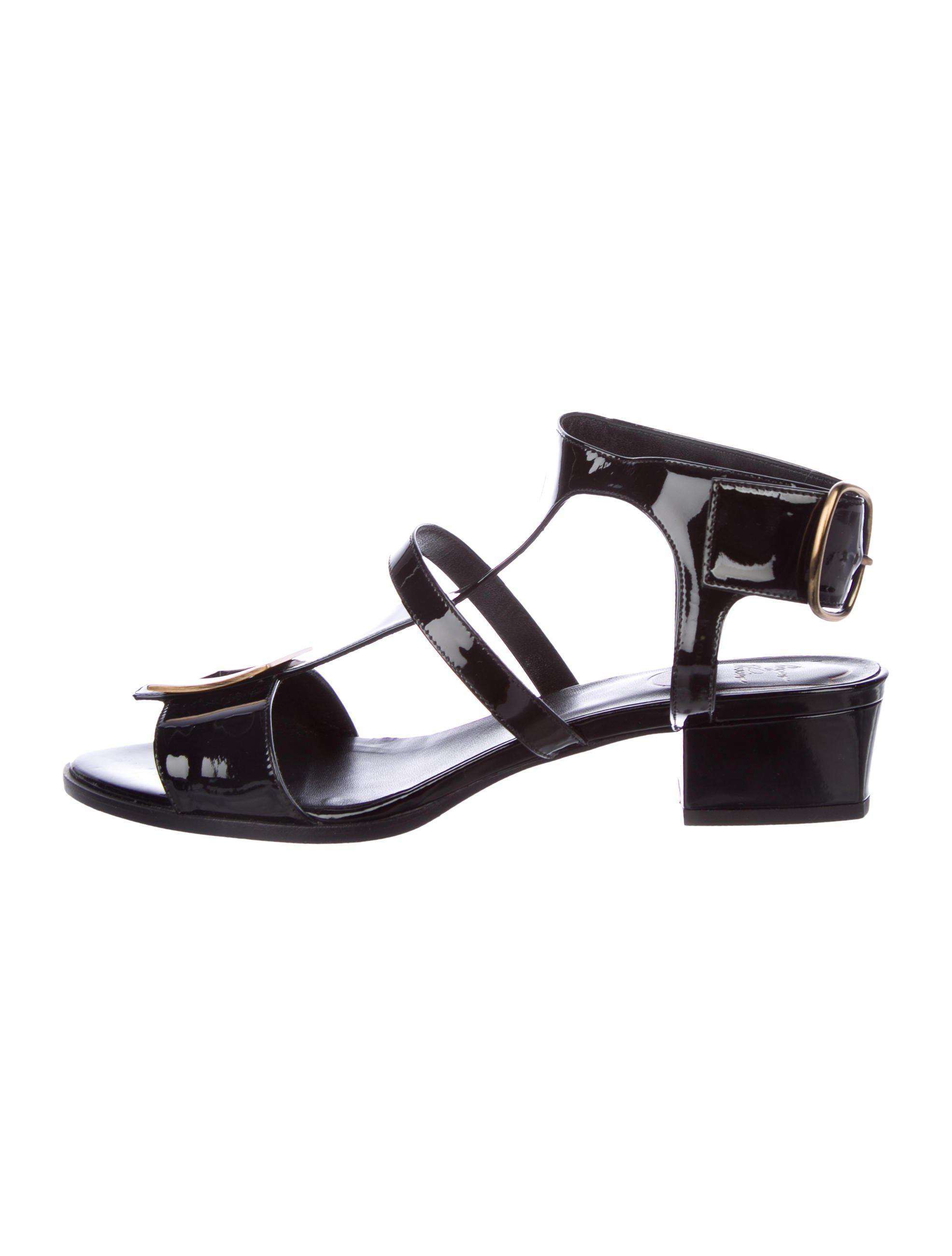Roger Vivier Patent Buckle Sandals Inexpensive cheap price cheap best wholesale cheap sale big sale shop sale online ebay cheap online uHskwTxMh