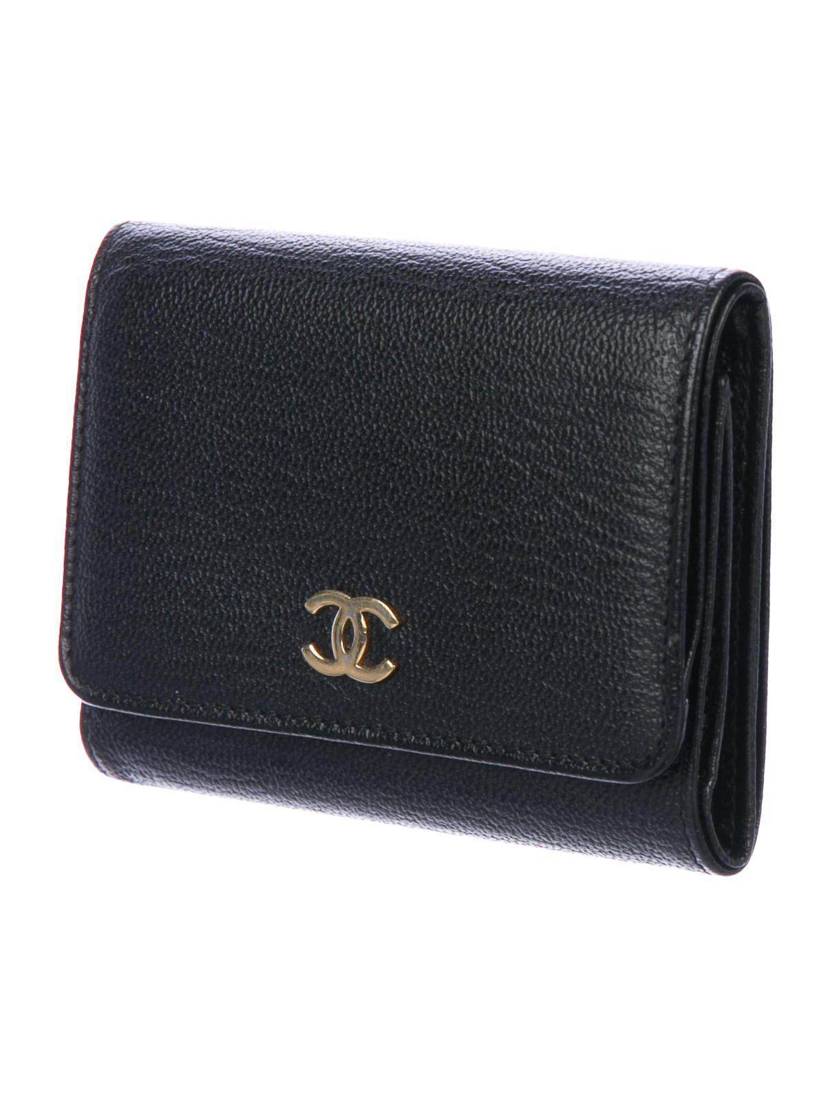 Lyst chanel cc business card holder black in metallic gallery reheart Choice Image