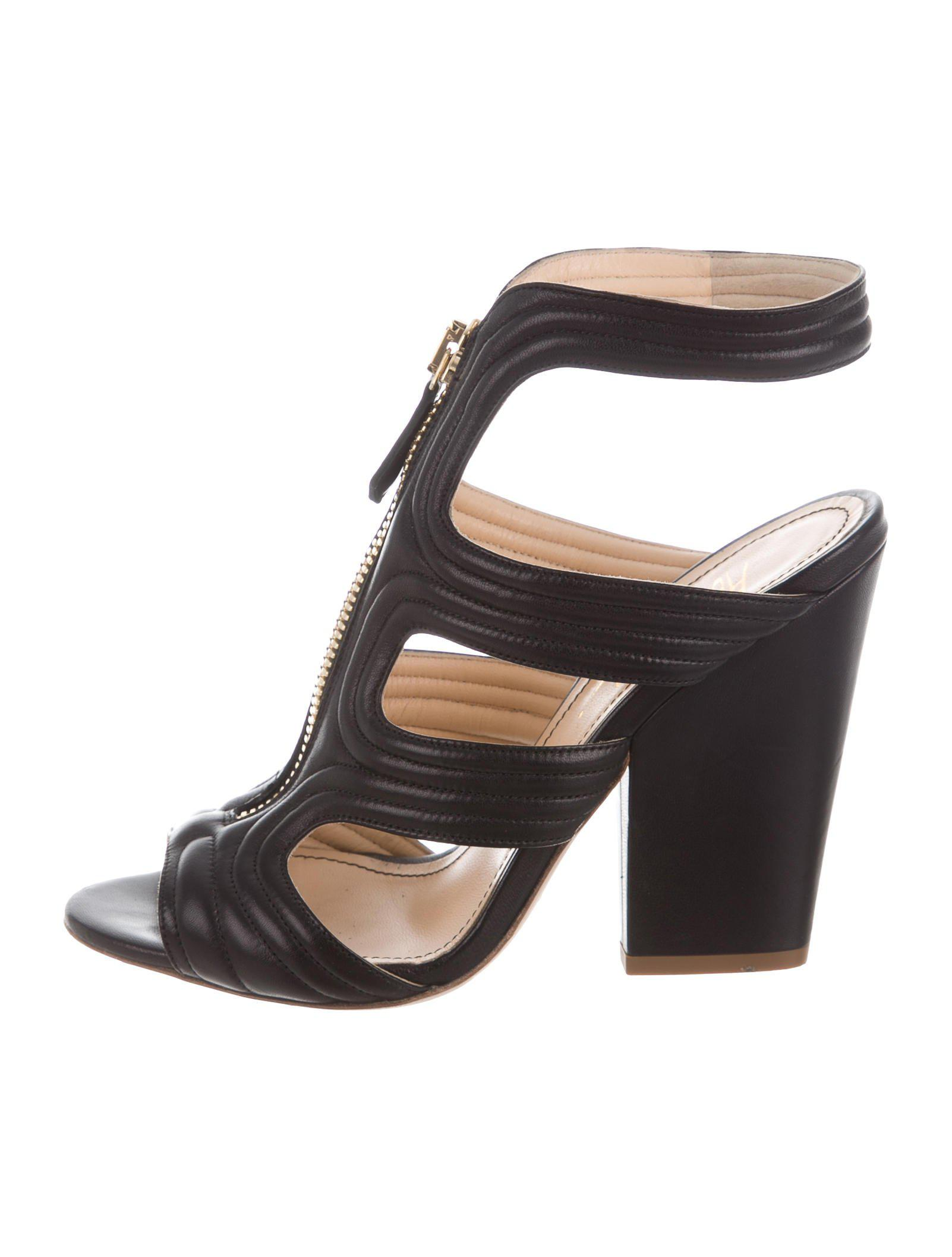 tumblr cheap price Jerome C. Rousseau Quilted Metallic Sandals 100% original cheap online sale limited edition buy online outlet fake x7S1v9vK7I