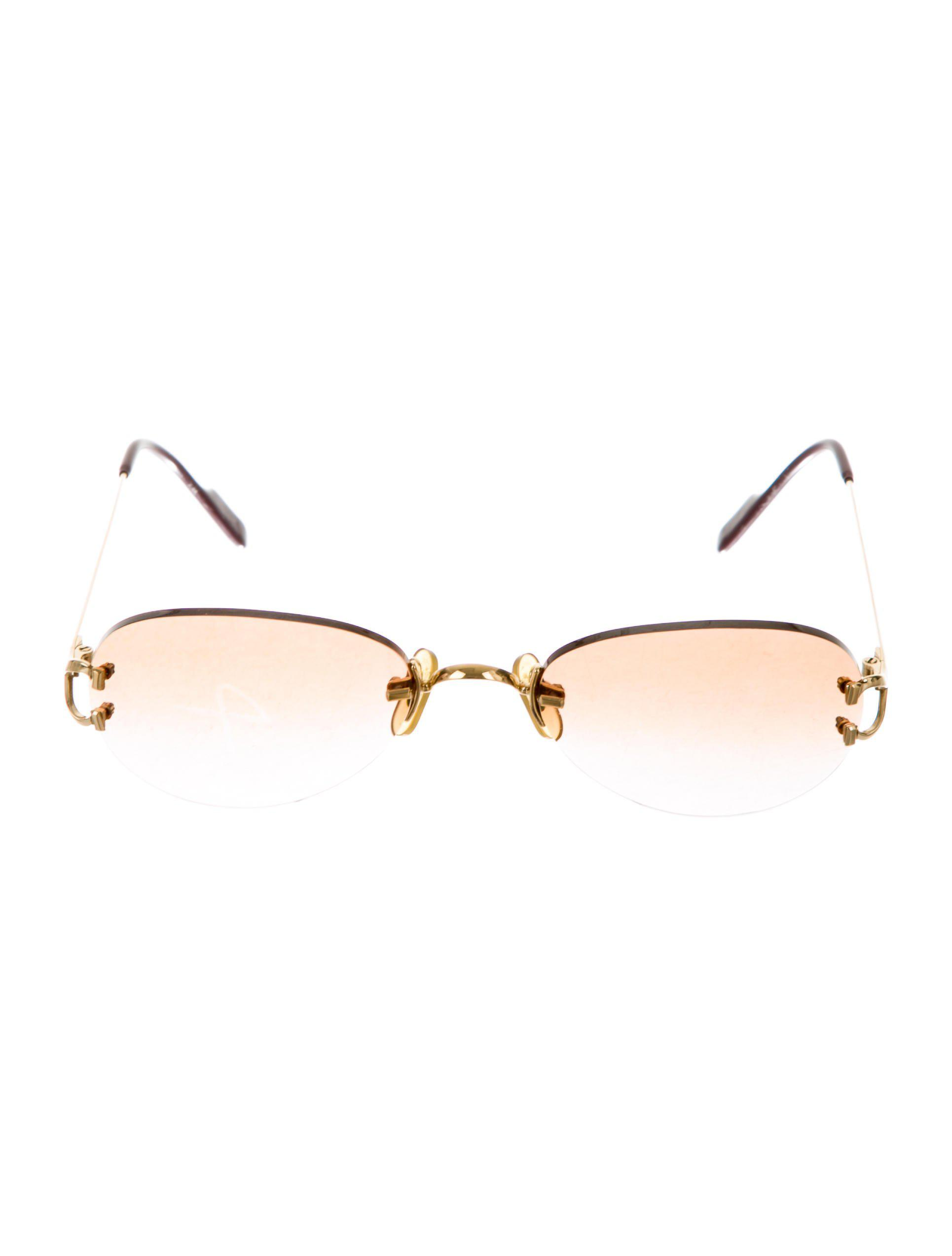 Lyst - Cartier 18k Rimless Chelsea Sunglasses Gold in Metallic