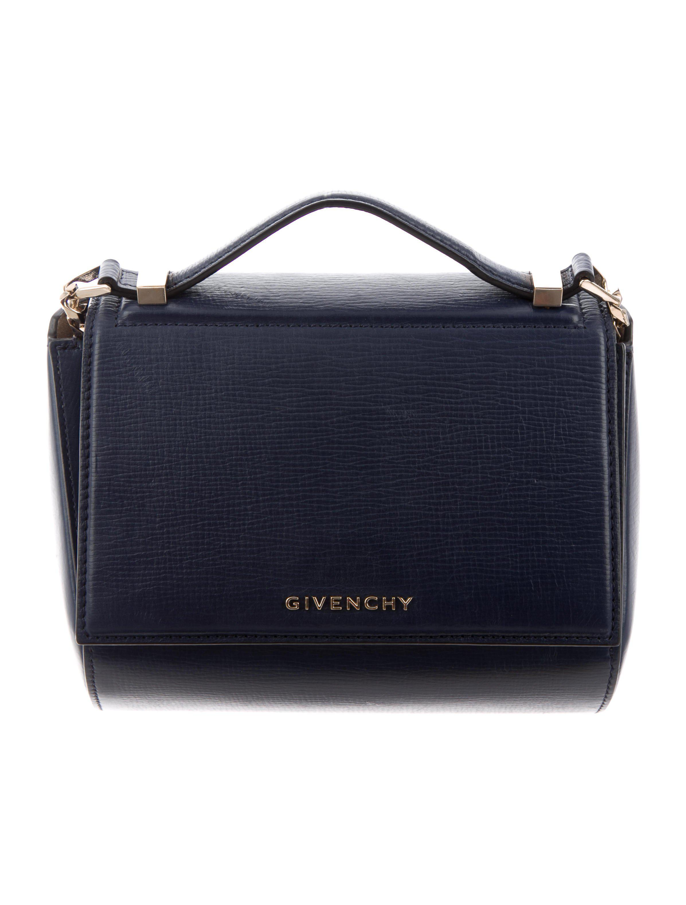 Givenchy - Metallic Mini Pandora Box Bag Navy - Lyst. View fullscreen 17b5b669648b1