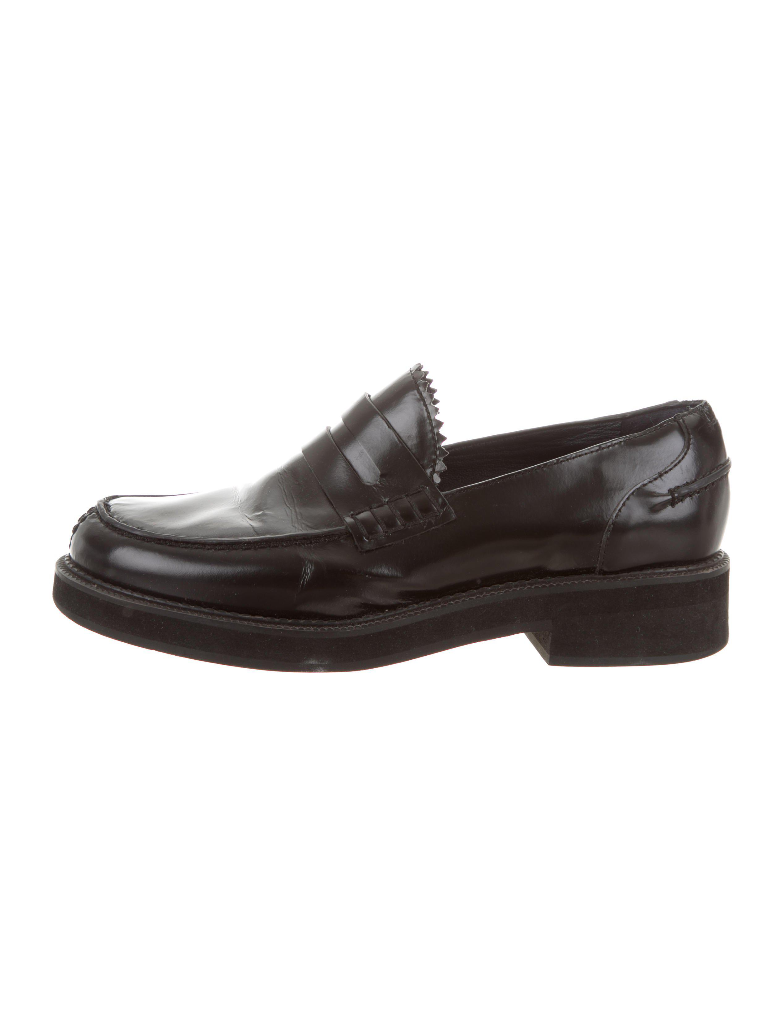 Jil Sander Navy Leather Round-Toe Loafers best place to buy 9dHRbcv
